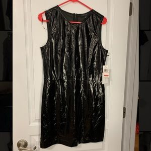NWT Black Leather Cocktail Dress